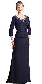 Floor Length U Neckline Suit