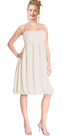 New Knee-Length Bubbled Hemline Daytime Dress