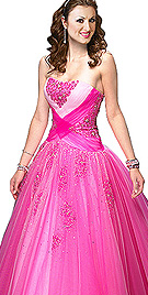 New Form Flattering Strapless Ball Gown