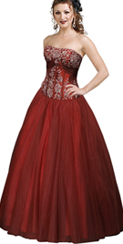 New Dazzling Strapless Ball Gown