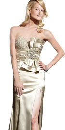 Ritzy Front Evening Gown | New Year Dresses