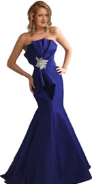 New Year Strapless Evening Gown