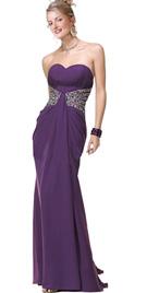 Heavy beaded waist prom dress