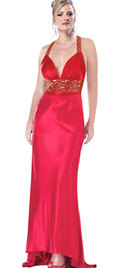 Racer Back Straps Prom Dress