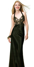 Fashionable Prom Dresses | Side Cutout Halter Prom Gown