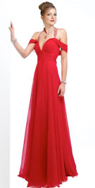 Ruched Flowing Prom Gown   Prom Party Dresses