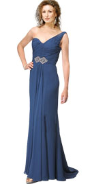 One Shoulder Prom Gown   Prom Party Wear