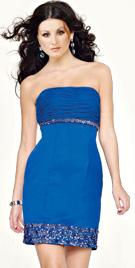 Short Beaded Hem Prom Dress