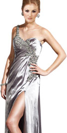 Appealing Prom Gown with Striking Strap