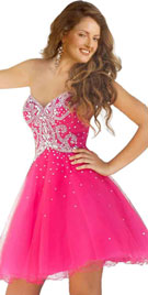 Sparking Sweetheart Neckline Short Prom Dress