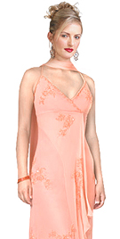 Silk Chiffon Embroidered Prom Dress