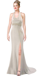 white satin prom dress by Onlygowns.com