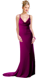 Prom dress in georgette has a classic silhouette to make you shine