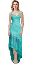Plunging 'V' neckline one-piece premium dress in Silk Chiffon