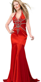 Mermaid Cut Red Carpet Dress