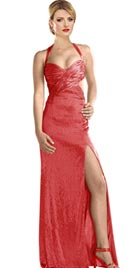 Cheap Sexy Beaded Red Carpet Gown