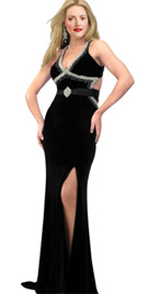 Knockout High Slit Red Carpet Dress