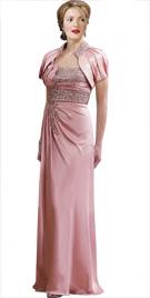 Stone Studded Bodice Red Carpet Dress