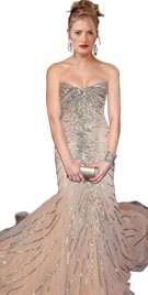 Ashley Greene Inspired Strapless Red Carpet Dress