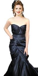 Kirsten Stewart Inspired Black Red Carpet Dress
