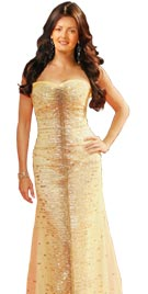 Sofia Vergara Inspired Golden Red Carpet Dress