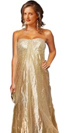 Stunning Golden Red Carpet Dress