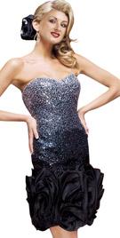 Glittery Bodice Evening Attire | Sex And The City Dresses