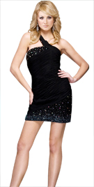 Ravishing Ruche Bodice Sequined Dress | Sex And The City Fashion