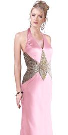 Butterfly Designed Evening Dress