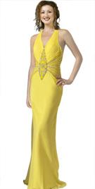 Beaded Designer Spring Halter Gown
