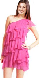 Wondrous One Shouldered Ruffled Dress