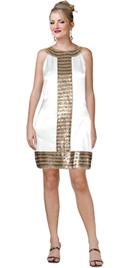 Sequined Satin Mini Dress