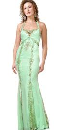 Glamorous Chiffon Halter Gown