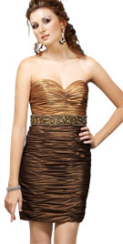 Artistically Designed Ruched Dress   Sun Dresses