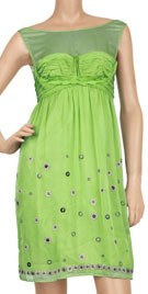 Sexy Sleeveless Bright Green Casual Dress
