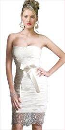 Bow Applique Ruche Dress   Thanksgiving Gifts Collection