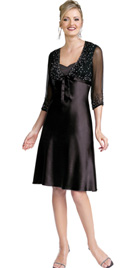 Magical Two-piece Knee Length Evening Dress