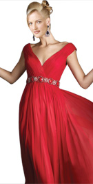 Awesome V Neckline Gown | Online Winter Dresses