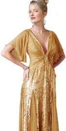 Shiny Deep V Winter Gown   Winter Collection 2010