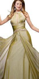 Charismatic Choker Neckline Dress   Winter Collection 2010