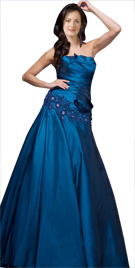 Scintillating Pleated Bodice Dress | Winter Collection 2010
